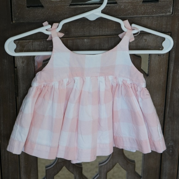 GAP Other - Baby Gap   Plaid White & Pink Dress
